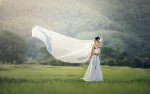 Robe de mariée green